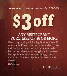 Boston market in store coupons