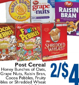 Coupon for post cereal 2018