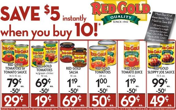 price cutter red gold Price Cutter Deals 10/31 11/6