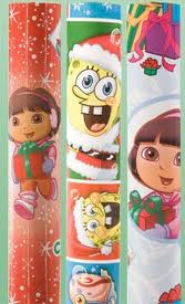 1001 american greetings wrapping paper coupon dora or spongebob heres a rare gift wrap m4hsunfo