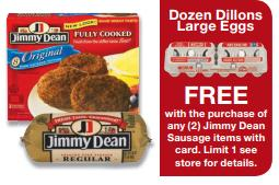 dillons free eggs jimmy dean Dillons Deals 12/5 12/11