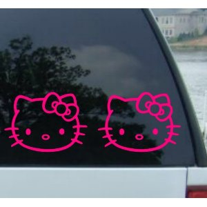 Hello Kitty Vinyl Decal Stickers Less Than Shipped On Amazon - Hello kitty car decal stickers