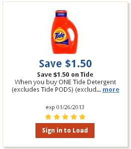 laundry detergent coupons free printable 2012