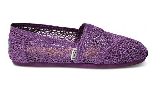 Toms Women All Purple Wedgie With Wooden Sole Shoes Unique Taste Fast Shipping Abd4c355