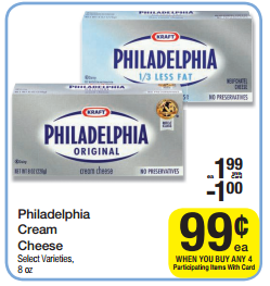 Philadelphia Cream CheeseWybParticipating ItemsUsePhiladelphia Cream Cheese Coupon Doubles Final Cost Each