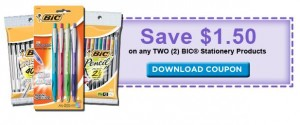 bic stationery coupon