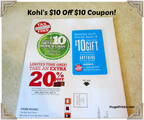 Any coupons for kohl's