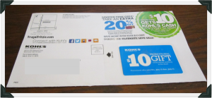 kohls coupon in the mail