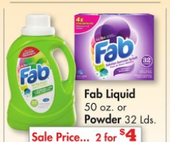 Fab Laundry Detergent $ Off Coupon | Free Printable $ off Get Deal Hopster has a double coupon today! Today only print and use the coupons on their site to save big. This offer is for $ off of Fab Laundry Detergent.