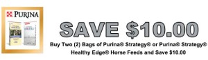 Purina horse feed coupons