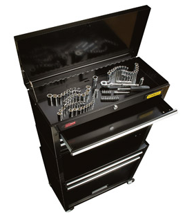 stanley rolling tool chest with 88 piece tool set 62 shipped. Black Bedroom Furniture Sets. Home Design Ideas