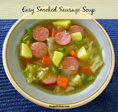 smoked sausage cabbage soup