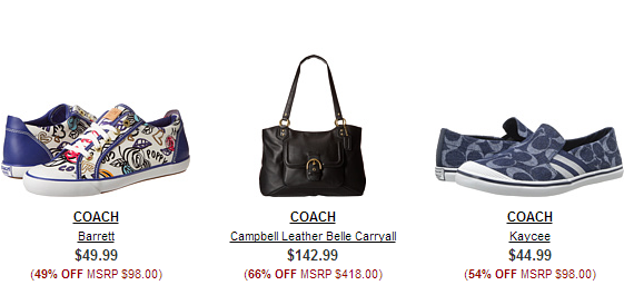 c774213f2f77 Prices start at just  14.99 on the Coach items
