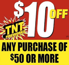 photograph about Tnt Fireworks Coupons Printable known as TNT Fireworks Coupon: $10 off any $50 buy