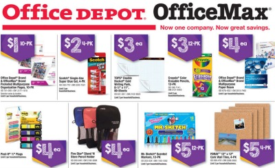 offce depot back to school deals