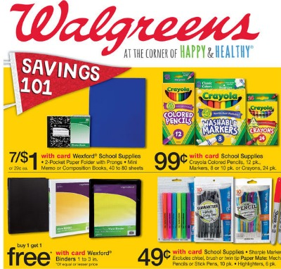 Walgreens Back to School Deals Matchups