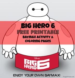 Disney Big Hero 6 FREE Baymax Printable