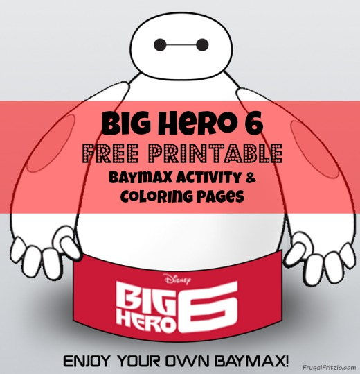 Free Printable Baymax Activity Sheets