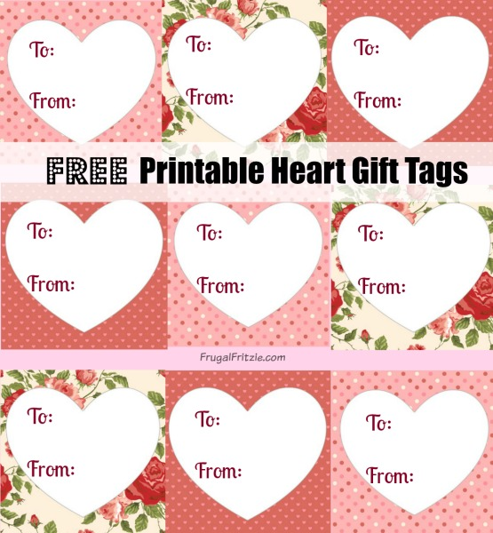 photo regarding Valentine's Day Tags Printable known as Totally free Printable Center Present Tags, Take pleasure in Prices for Valentines
