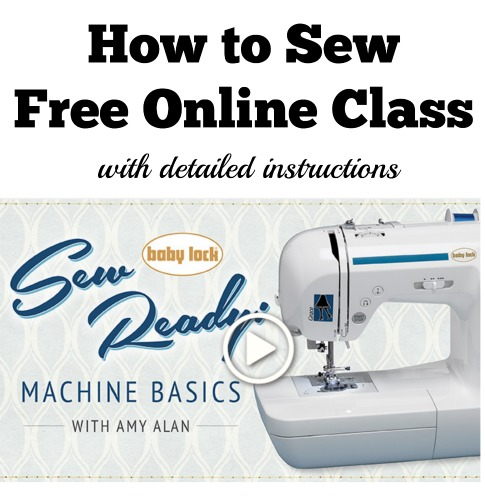 learn to use sewing machine