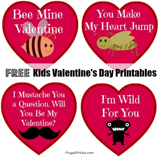 Free Printable Valentines Tags funny Valentines Day quips – Kids Printable Valentines Day Cards