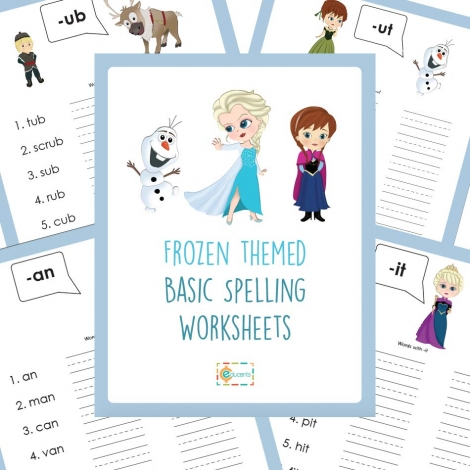 Free Disney Frozen Spelling Worksheets
