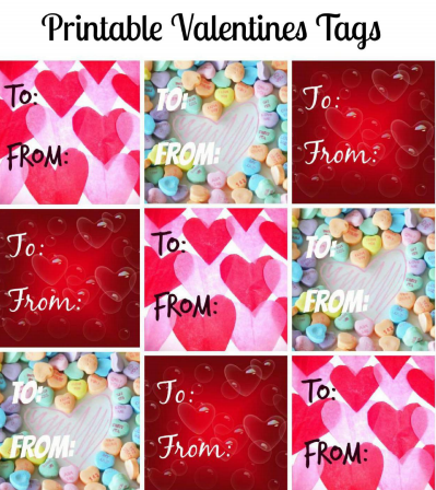 free printable valentines tags