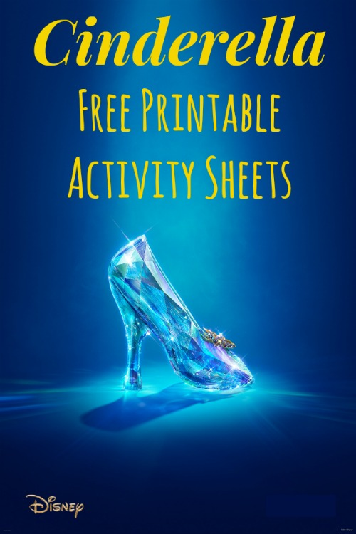 Cinderella Free Printables Activity Sheets