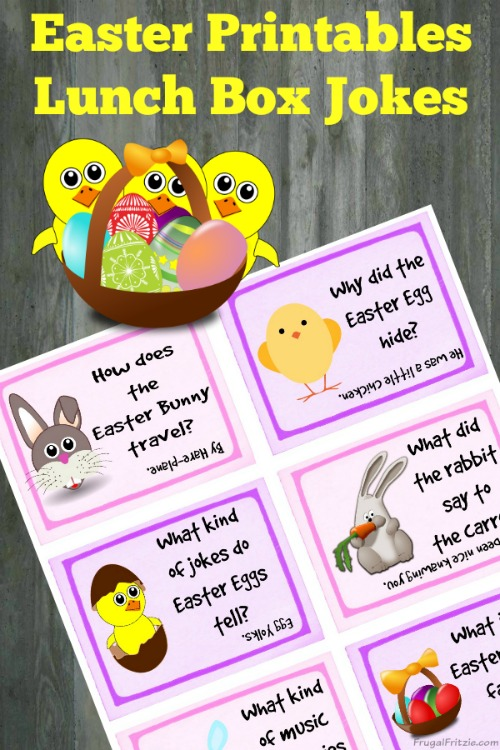 Free Printable Easter Kids Lunch Box Jokes