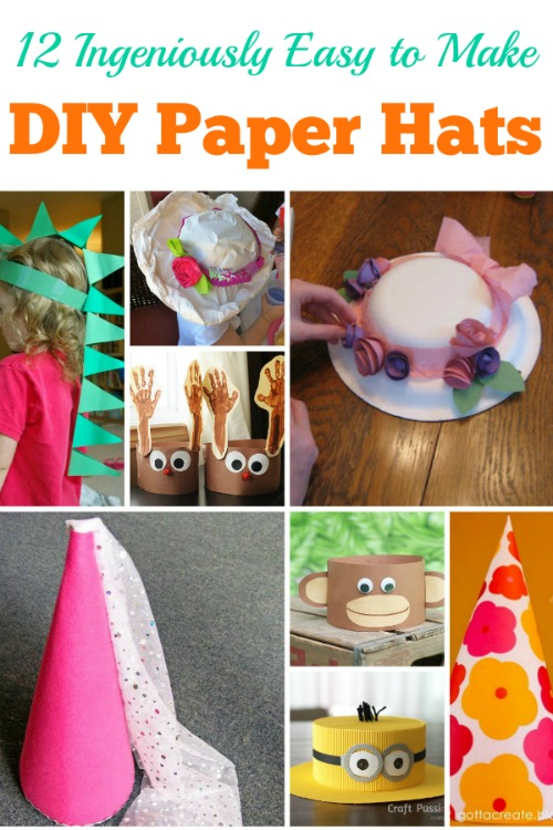 673755516e3c5 12 Ingeniously Easy to Make DIY Paper Hats