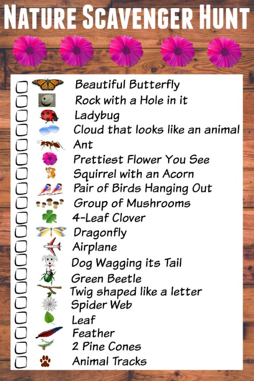 photograph about Printable Scavenger Hunt named Character Scavenger Hunt for Small children (with totally free printable listing)