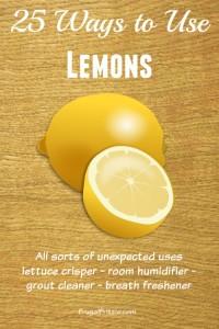 Ways to use Lemons