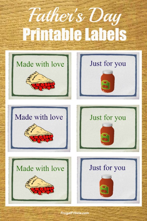 photo relating to Free Printable Fathers Day Tags called Fathers Working day Cost-free Printable Labels (moreover Fathers Working day offers)