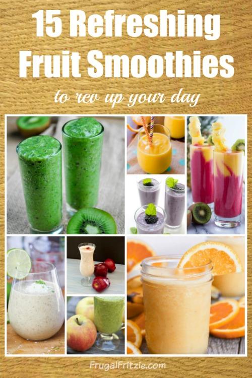 Refreshing Fruit Smoothies