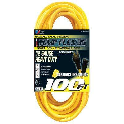 100 Foot 12 Gauge Outdoor Extension Cord 15 Amp 12 3