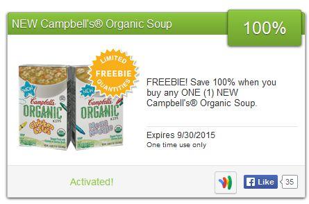 FREE Campbells Organic Soup