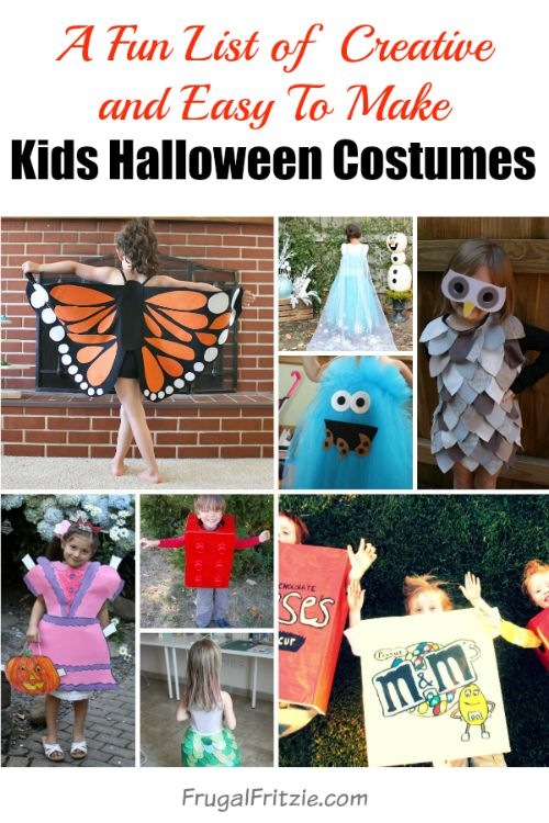 fun and creative easy to make diy kids halloween costumes - Halloween Costumes Diy Kids