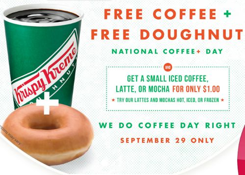 FREE Krispy Kreme Donut and Coffee