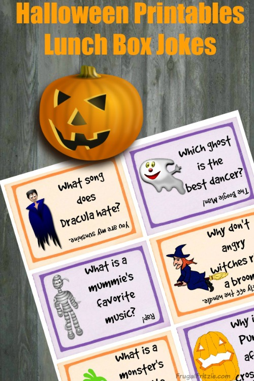 Free Printable Halloween Kids Lunch Box Jokes