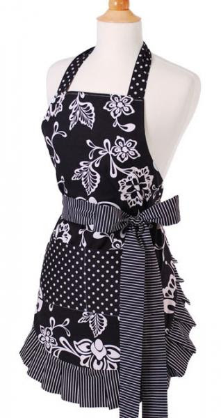 Flirty Apron Original Sassy Black Apron