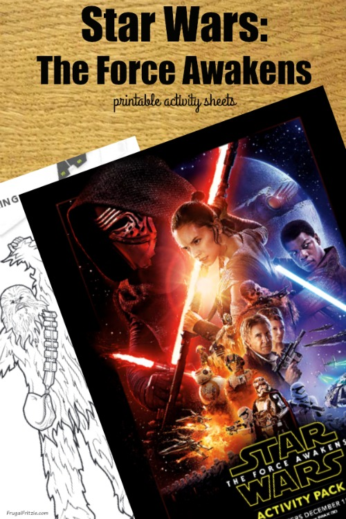 Star Wars The Force Awakens Free Activity Sheets