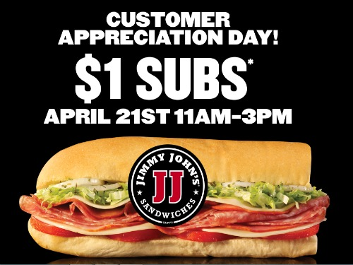 Jimmy Johns Sub Sandwiches