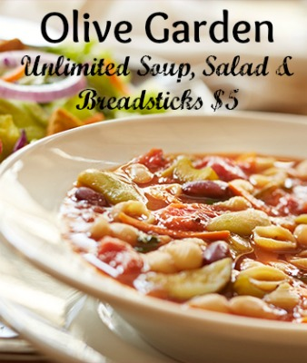 Olive Garden Coupon Unlimited Soup Salad