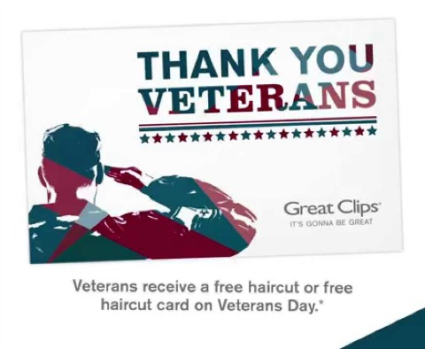 free haircuts for veterans great free haircut for veterans on veteran s day 2289 | great clips veterans